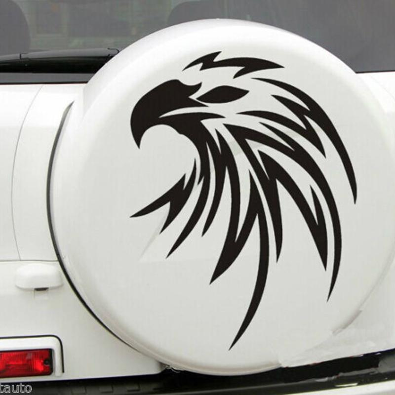 2019 For Car White Flying Eagle Spare Tire Cover Hood Decal Vinyl