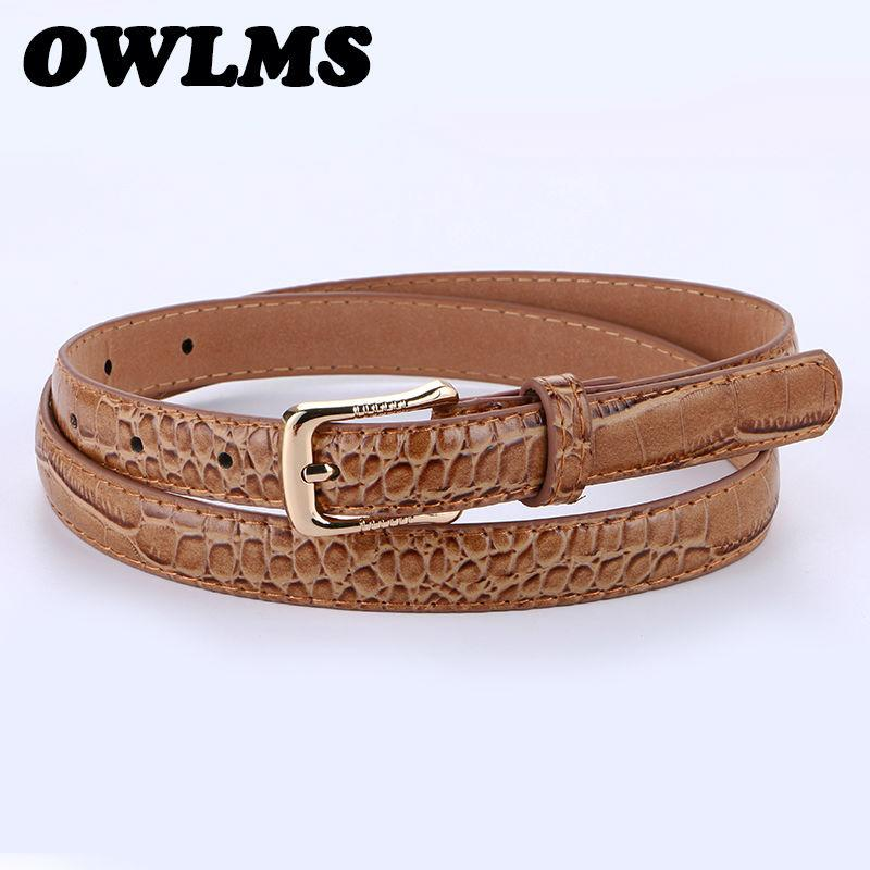 HOT Crocodile Genuine Leather Belt For Women Newest Fashion Gold Pin Buckle  Popular Lady Belts Thin Strap Gifts Female For Jeans Jiu Jitsu Belts Gold  Belt ... a30f69b4cd