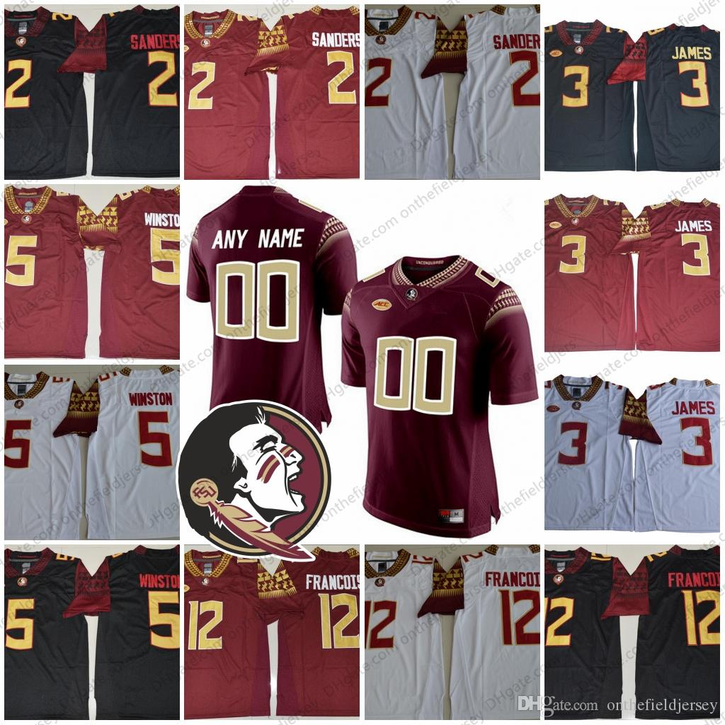 83dbfc86aec 2019 Custom Florida State Seminoles NCAA Football #2 Deion Sanders 3 EJ  Manuel 12 Deondre Francois 3 Derwin James Any Name Number Jerseys S 3XL  From ...