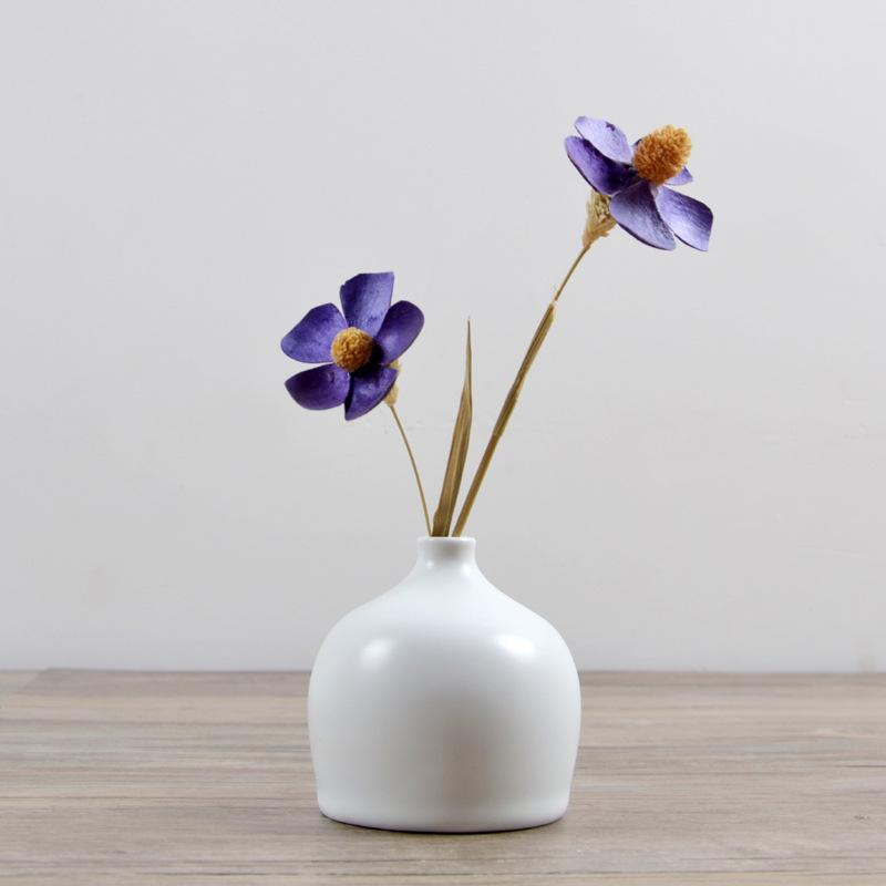 Grosshandel Saideke Home Deko Weiss Keramik Blumenvase Matte Ornamente