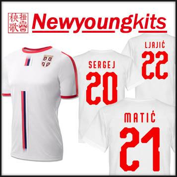 18dad21d1 2019 2018 World Cup Serbia Away White Jersey MATIC Football Uniforms LJAJIC  SERGEJ TADIC MITROVIC KOLAROV Soccer Shirt From Newyoungkits