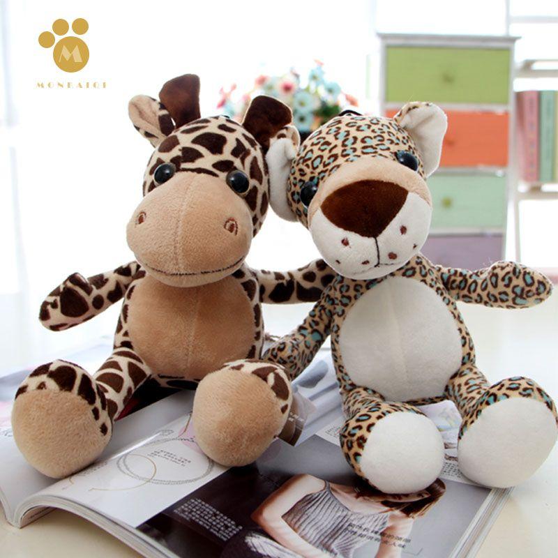 2019 Zoo Toys Soft Tiger Lion Giraffe Leopard Doll Plush Toys Animal