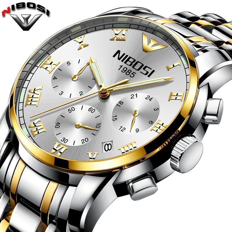 73e5c131151 Relogio Masculino NIBOSI Top Luxury Brand Fashion Wristwatch Stainless  Steel Men S Watches Waterproof Saat Erkek Montre Hommes Wrist Watch Online  Buy Wrist ...