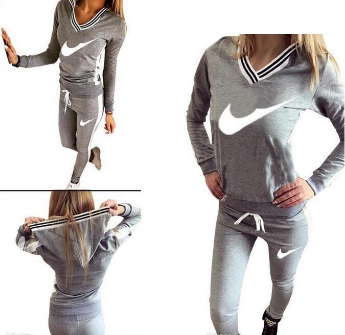 6e69705b6646a5 Acheter 9076 # Femmes Costume Sport À Capuche Sweat + Pantalon Jogging Femme  Marque Survetement Sportswear Ensemble Survêtement S XL De $16.89 Du ...