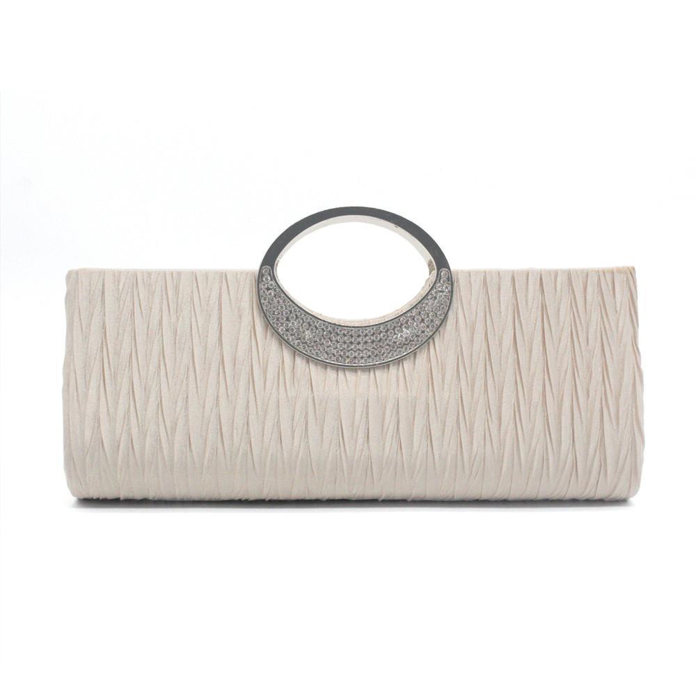 fbf1dbbb84f7 Women elegant evening wedding purse clutch rhinestone satin pleated jpg  1000x1000 Wedding handbags