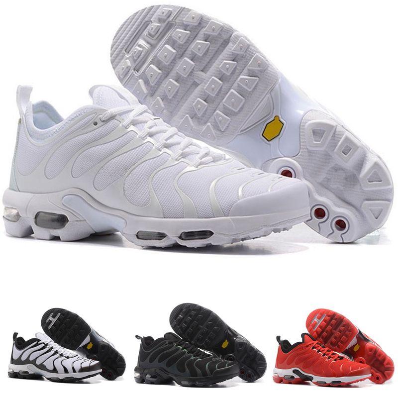 sports shoes 60f26 01cab Acheter 2018 Nike Tn Plus Air Max Nova TN Plus TN Rainbow Hommes Chaussures  Plate Bottom Air Cushion Hommes Respirant Léger Chaussures De Course  Sneakers ...