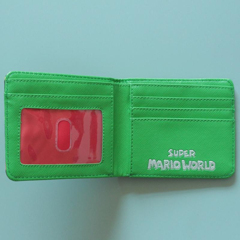 SUPER MARIO WORLD Wallets Cute Cartoon Comics Purse Student Short Game Wallet Coin Bag Credit Card Holder Anime Wallet For Teens