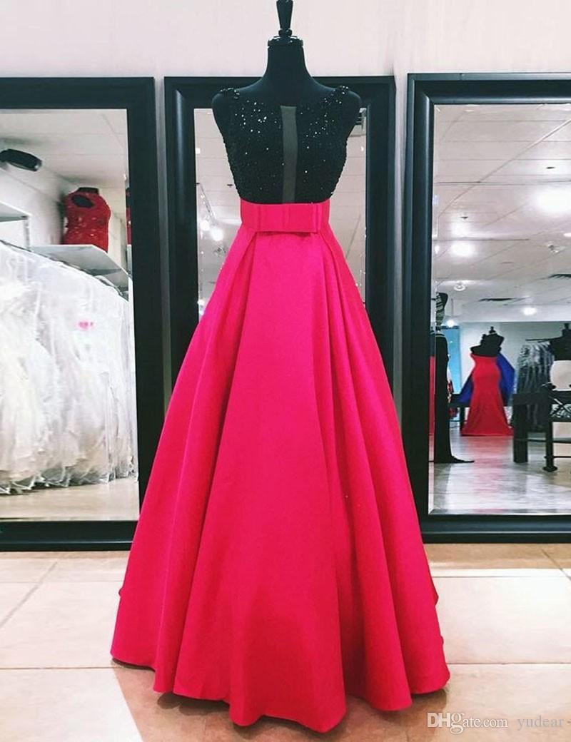 Yeni Varış 2019 Scoop Kadınlar Abiye A-line Kat Uzunluk Shining Sequins V-geri Kadınlar Ziyafet Gelinlik Etekler Vestido de Party