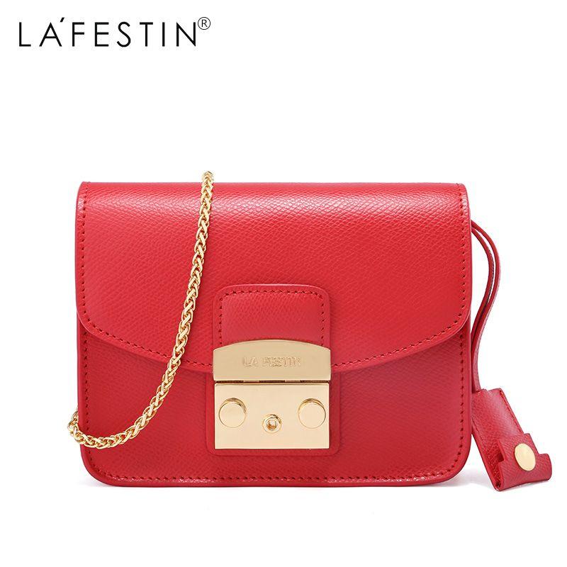 e8a2459f0747 LAFESTIN Famous Shoulder Women Flap Designer Real Leather Crossbody Bag  Luxury Totes Multifunction brands Bag bolsa