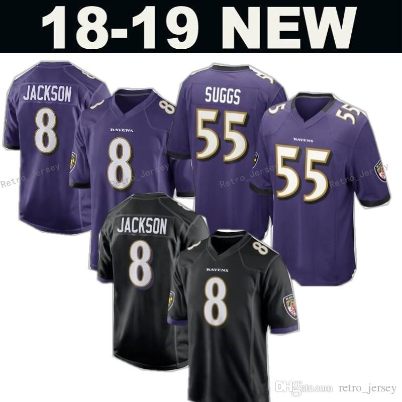 New 8 Lamar Jackson 81 Hayden Hurst Jersey Baltimore Ravens 32 Eric ... fd2e97ecf