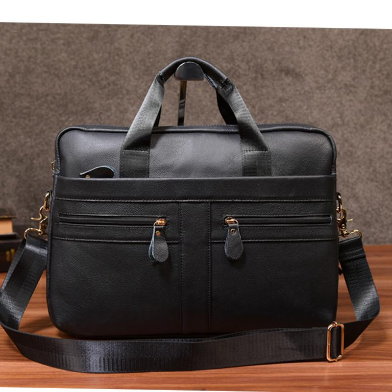 Leather business men's handbag business briefcase cowboy shoulder shoulder slash leisure computer bag