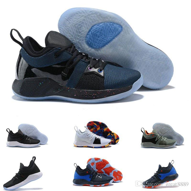 1a032598f57 2019 2018 High Quality Paul George 2 PG II Basketball Shoes For Cheap Top  PG2 2S Starry Blue Orange All White Black Sports Sneakers Size40 46 From  Great8889 ...