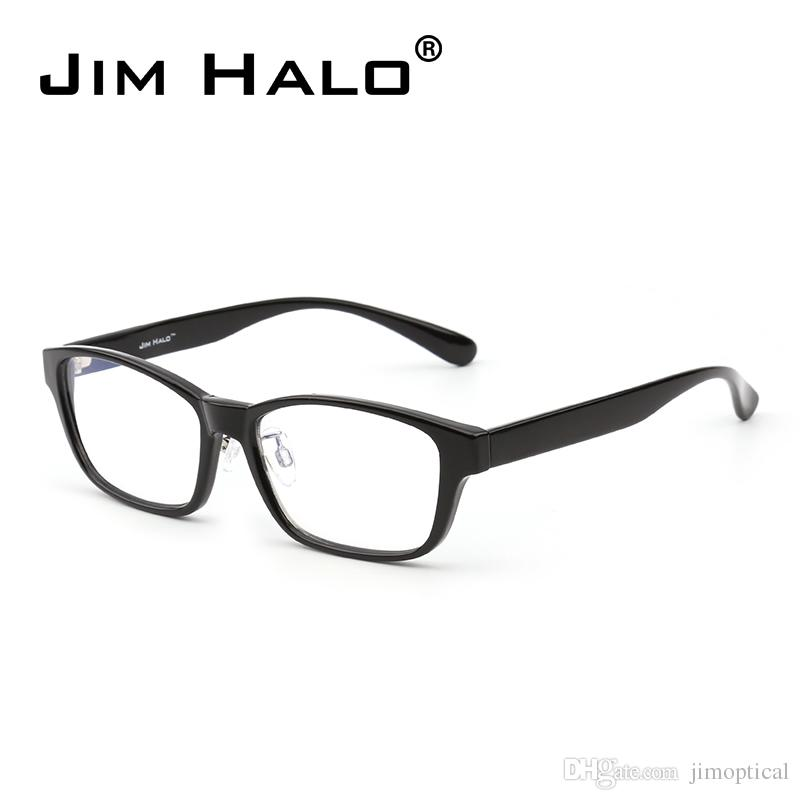 c8993e86bf Jim Halo Blue Light Block Computer Reading Glasses Reduce Eye Strain Anti  Glare Clear Lens Video Rectangle Eyeglasses Men Women Prescription  Sunglasses ...
