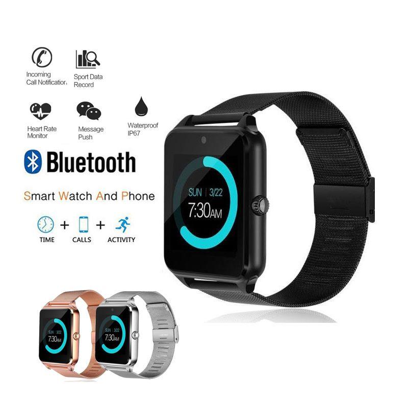 11ddc2228d0d Compre Reloj Deportivo Para Mujer Para Hombre 2018 Relojes Inteligentes  Digitales Bluetooth Para Mujer Monitor De Ritmo Cardíaco Para Mujer Erkek  Kol Saati ...