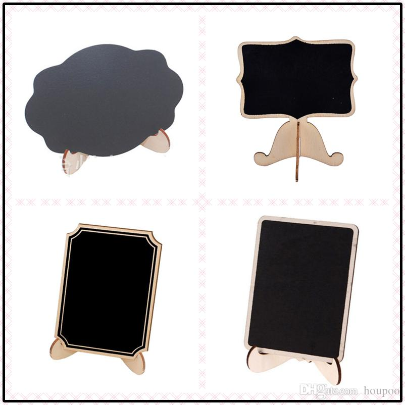 2018 Bulk 9*8.2*0.3cm 4 Designs Mini Wooden Chalkboard Table Names Numbers  Food Signs Festive U0026 Party Supplies Blackboard From Houpoo, $0.95 |  Dhgate.Com