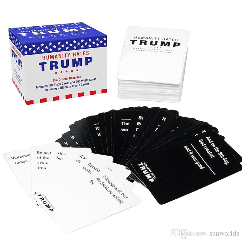 Adult Cards Christmas Gift Humanity Hates Trump Card For Adult Party Festive Supplies IN STOCK IMMEDIATELY DELIVERY