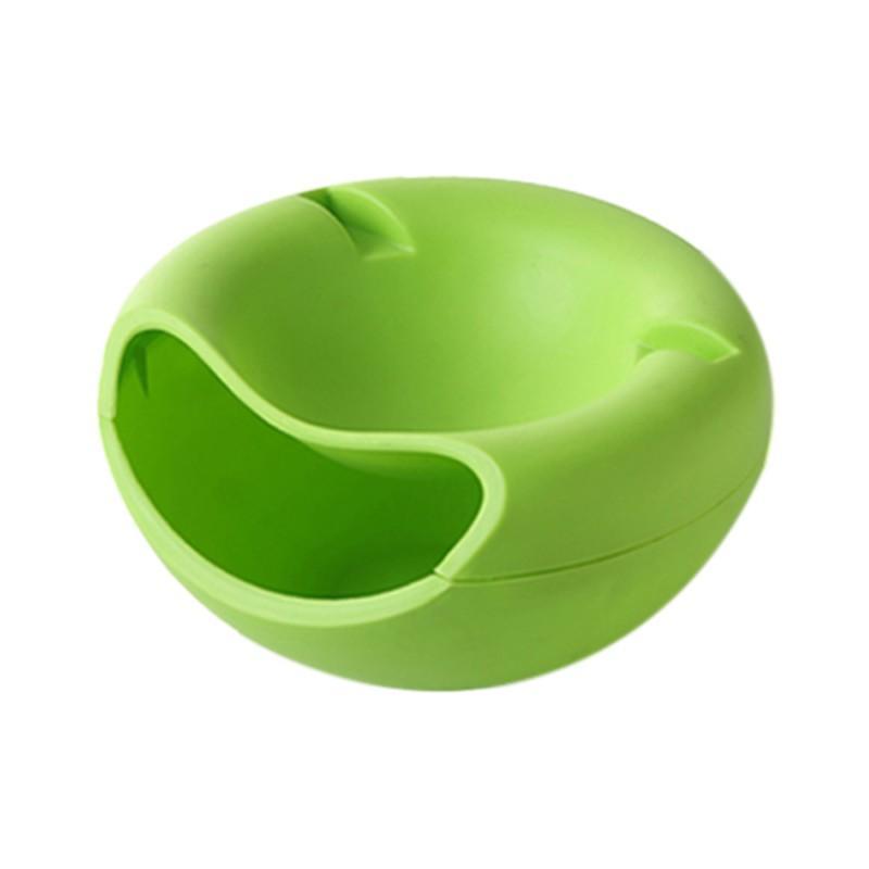 Творческий Пластиковый Двойной Слой Фрукты Закуски Хранения Мусорный Ящик 4 Цвет Пластик Прочный Многофункциональный Семена Ящик Для Хранения