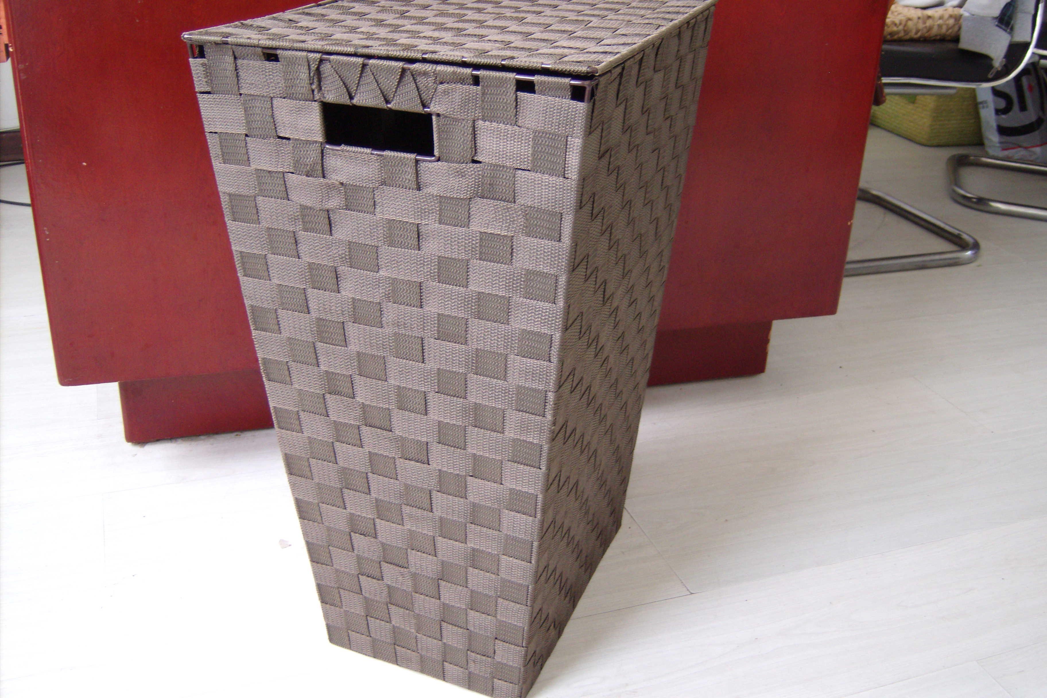 eb0089aab Juego de cubo de cesto tejido plegable de almacenamiento de Sorbus - Asas  de transporte incorporadas - Ideal para la organización de la casa, ...