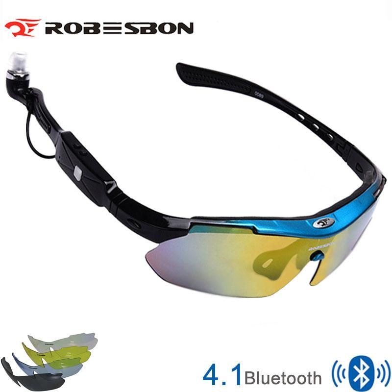 97ba14b501 Nueva Marca 5 Lentes 4.1 Gafas De Sol Inteligentes Bluetooth Gafas De  Ciclismo Polarizadas Hombres Motociclismo Gafas De Anteojos Del Teléfono  MP3 Solo ...