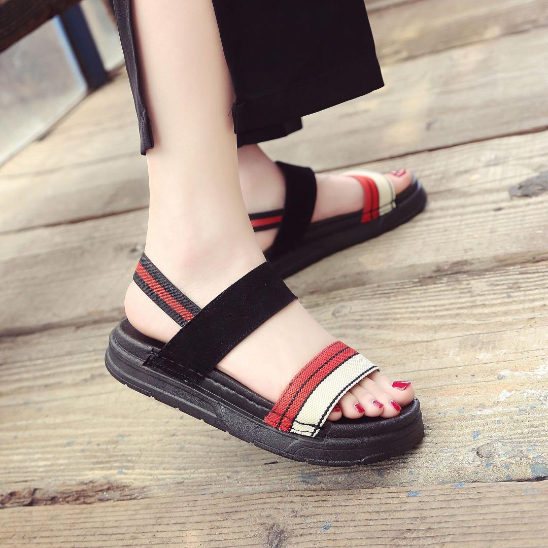 Classics Leisure Gladiator Sandals Women Gladiator Ethnic Rome Sandals Ankle Strap Thick Soled Summer Shoes