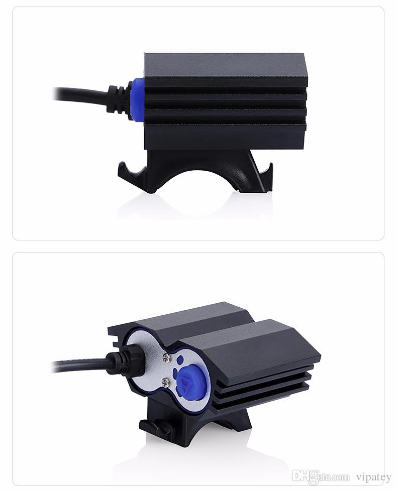 2 * XML T6 LED OWL antorcha de luz de bicicleta Bicicleta lámpara delantera de la linterna con cargador USB linterna para montar en bicicleta accesorios