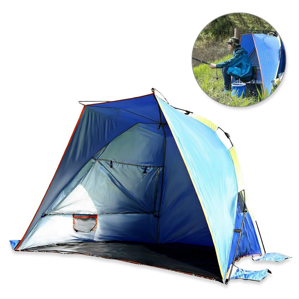 d2555766306c Wholesale Automatic Instant Setup 3 4 Person Outdoor Beach Tent Shelter  Summer UV Protecting Sports Sunshade Camping Fishing Picnic Tent Family Camping  Tent ...
