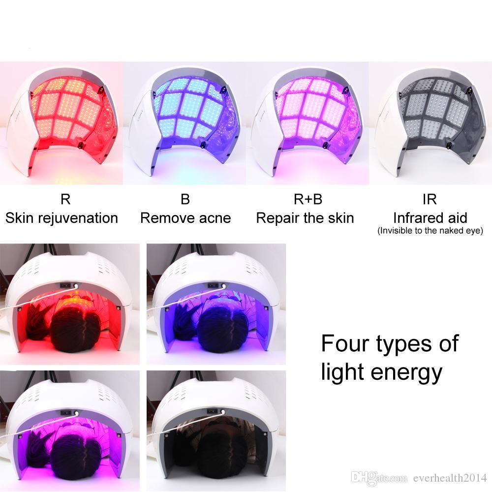 Светодиодные маска для лица Фотон свет энергии терапии лампы уход за лицом красоты машина омоложения кожи PDT анти старения акне морщин удалить