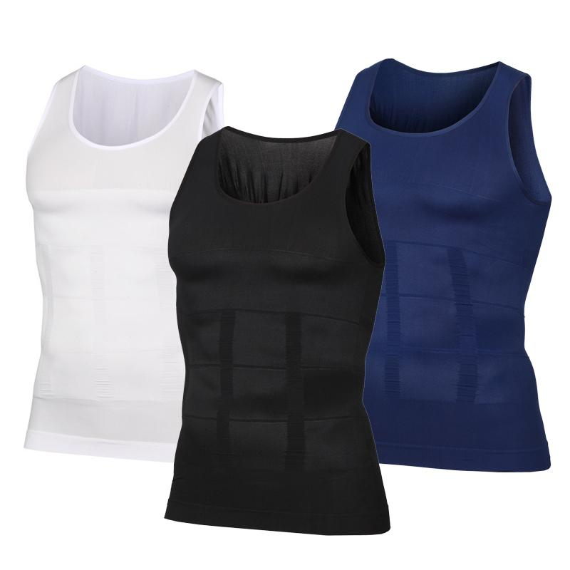 626376a5a61a6 Men Body Shapers Fitness Elastic Beauty Abdomen Tight Fitting Sleeveless  Shirt Tank Tops Shape Vests Slimming Boobs Shaping Vest Shapers Cheap  Shapers Men ...