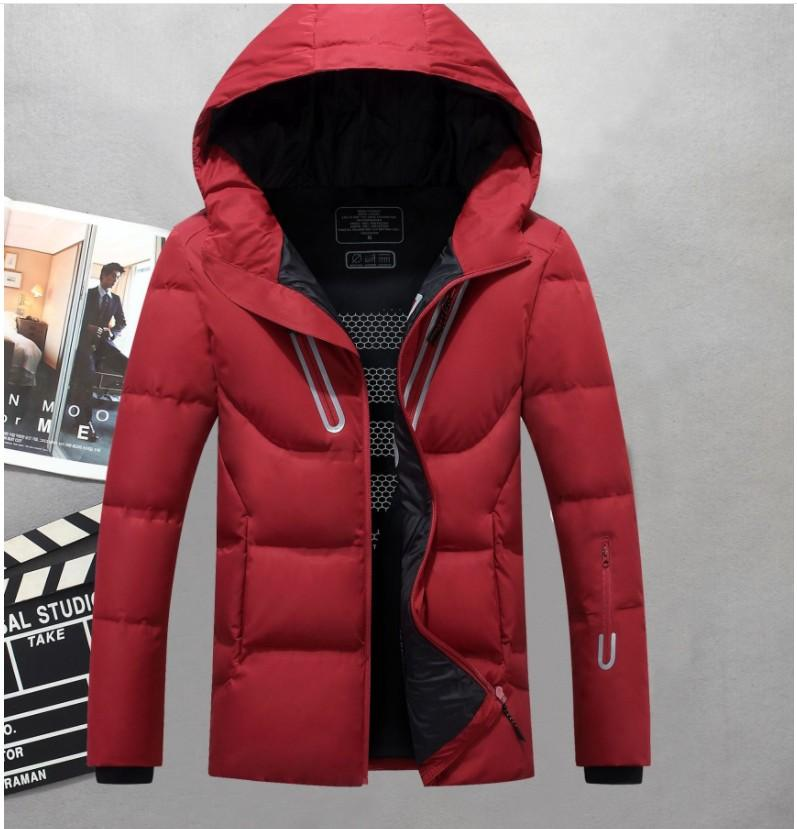 7645f1faa Men Hooded Winter Outdoor Duck Down Jacket Classic Man Thick Casual Hooded  Down Coat Outerwear Mens Warm Jackets Parkas M-3XL