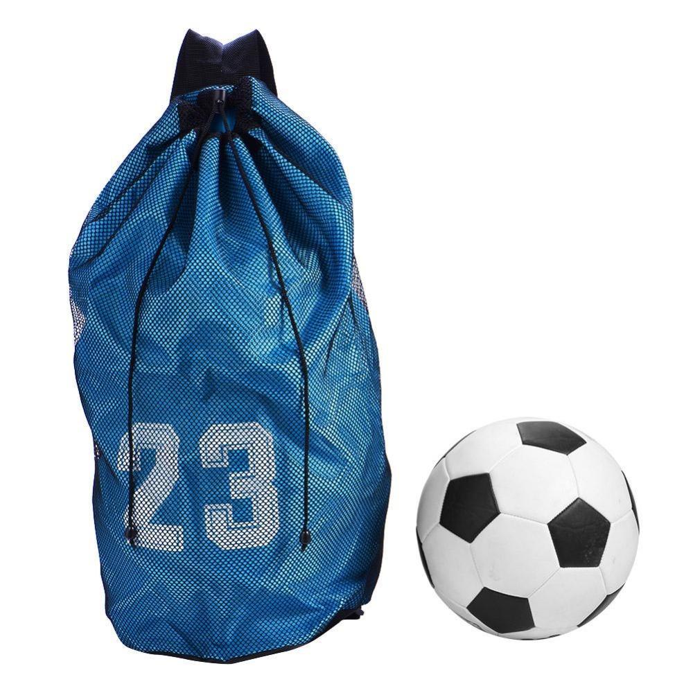c076a88bdd7 2019 Outdoor Sport Bag Large Capacity Mesh Drawstring Football Bag  Basketball Soccer Sport Training Backpack Shoulder Ball Bag Holder From  Walon123, ...