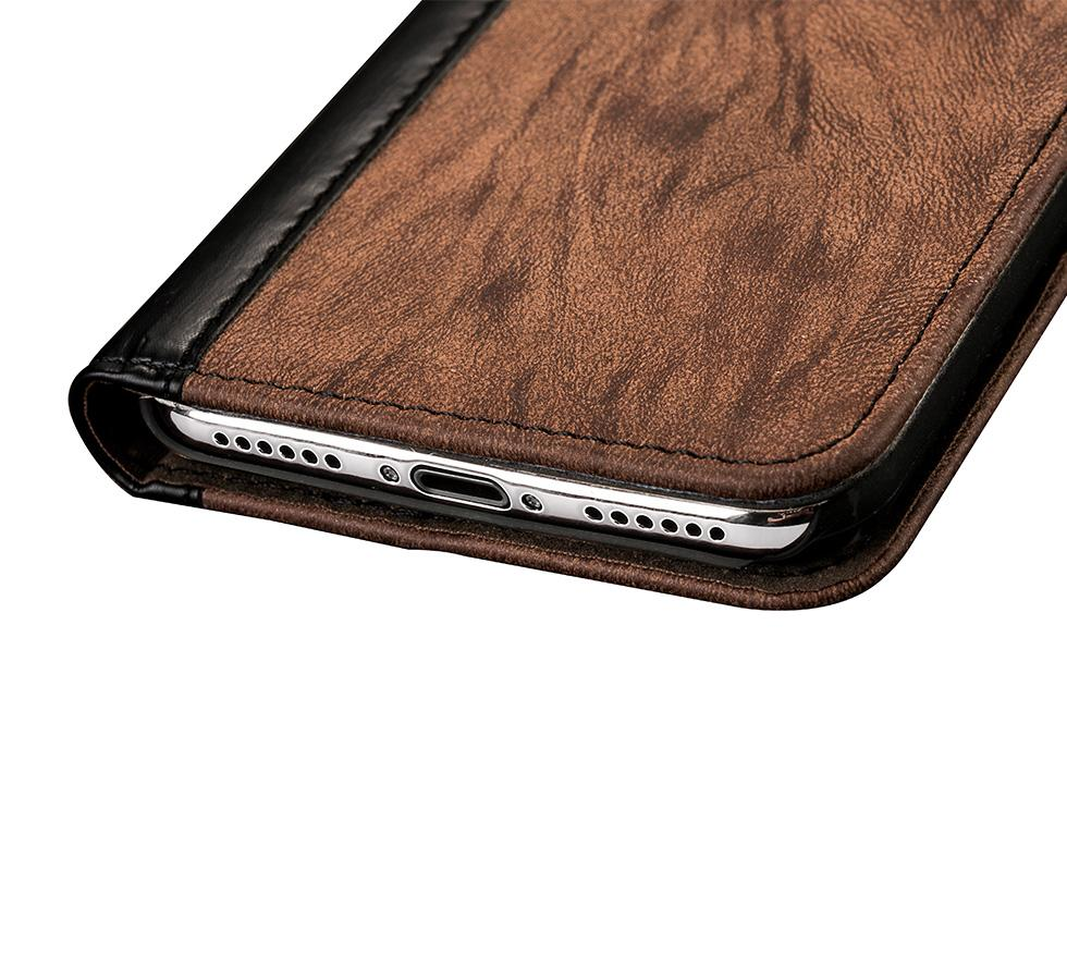 Hot selling New Stand Magnet pu leather cell phone case custom mobile phone case for iPhone 6 7 Plus 8 Plus Wallet Card Slot Cell phone