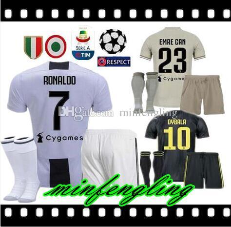 6d90b2444 2019 18 19 Ronaldo Juventus Men Kit Soccer Jersey Away Gray 2018 MANDZUKIC  MATUIDI DYBALA Bonucci D.COSTA Home Third Champions League Football S From  ...