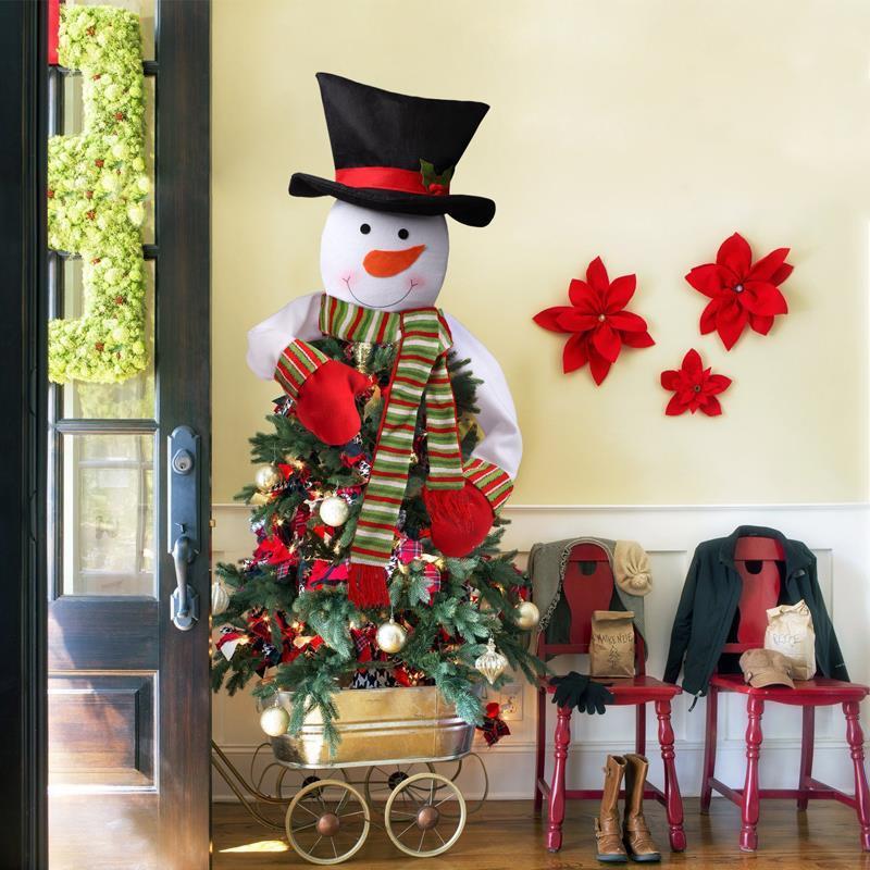 Albero Di Natale Grande.Albero Di Natale Grande Cappello Sciarpa Decorazioni Pupazzo Di Neve Centro Commerciale Casa Ornamenti Di Natale Decorazione Per Feste Forniture Di