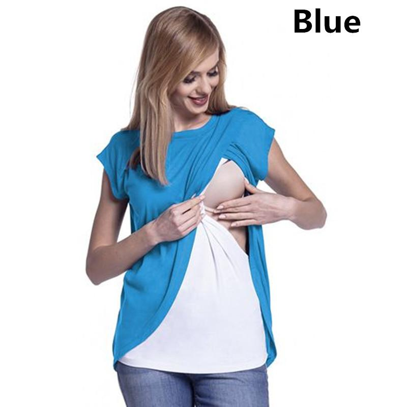 09a9e5d7a7107 2019 Plus Size Pregnant Clothes Summer Women Breastfeeding Clothes  Maternity Tees T Shirt Nursing Tops Maternity Clothes From Roohua