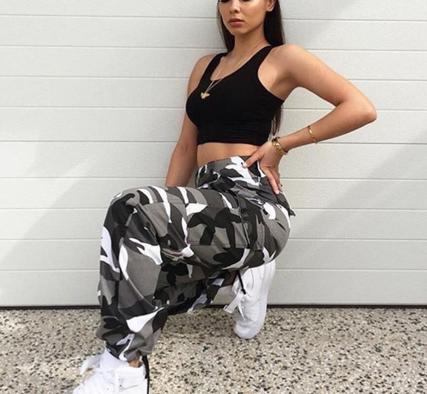 Women Fashion Camouflage Jogger Pants Women Military Harem Pants Pantalon  Femme Trouser Ankle Length Cotton Camo Pants UK 2019 From Ruibao09 c0b209c1a95