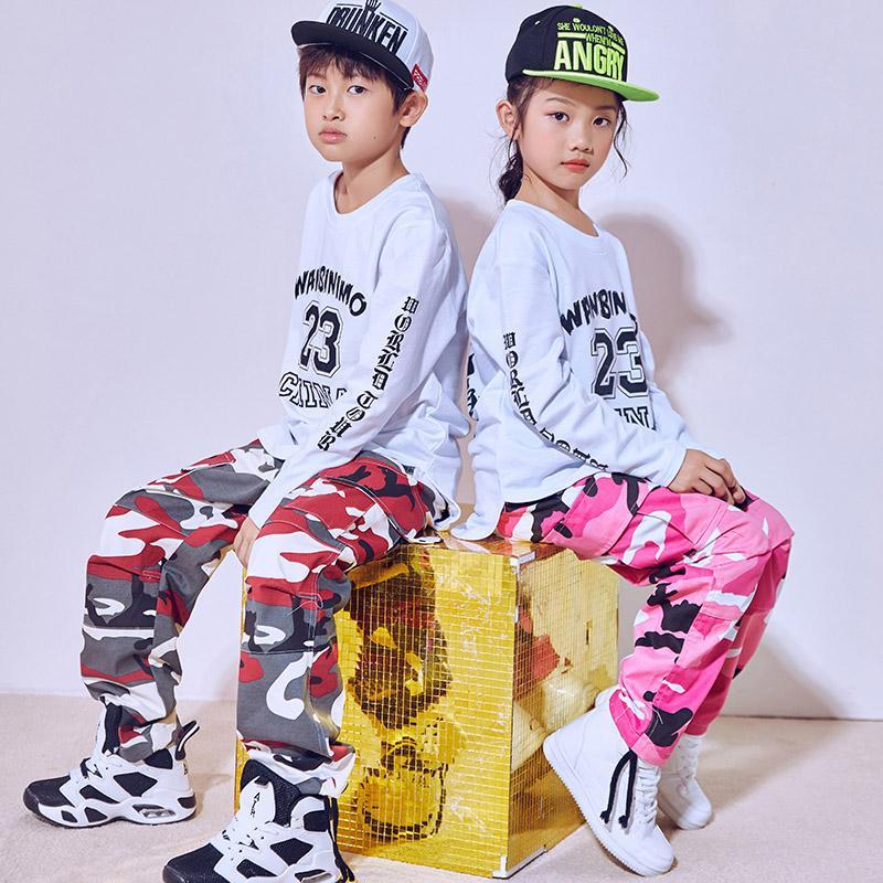 Compre Hip Hop Traje De Baile Para Niños Niños Pantalones De Camuflaje De  Manga Larga Tops Jazz Jazz Trajes Trajes De Baile Callejero Ropa Desgaste  DN1787 A ... bc8d6edeeef