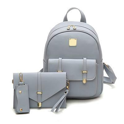 Fashion Composite Bag Pu Leather Backpack Women Cute Bag School Backpacks  For Teenage Girls Black Bags Letter Sac A Dos Gregory Backpacks Army  Backpack From ... 1f4832f184ec0