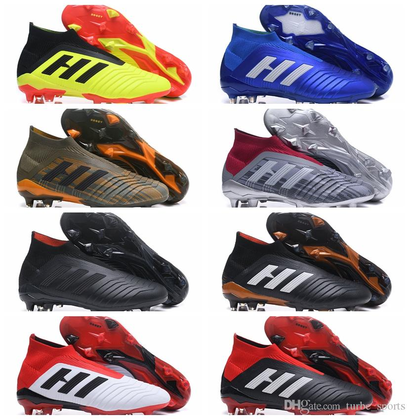 2019 2018 Mens Soccer Cleats Predator Accelerator Mania 18.1 FG Shoes High  Ankle Football Boots Scarpe Da Calcio Botas Zapatos De Fútbol Futbol From  ... 2d777205377