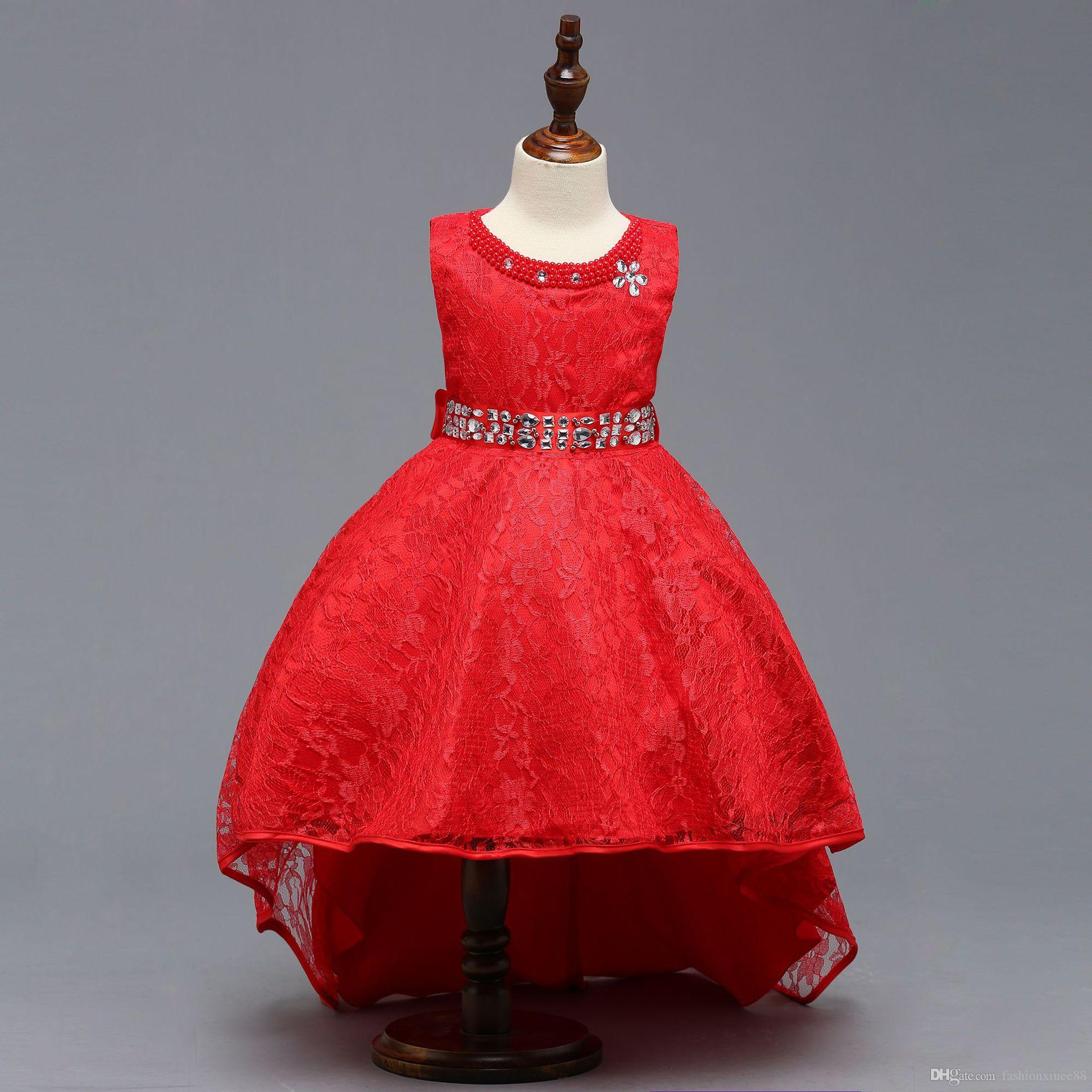 New Arrival Pretty Flower Girl Dresses Appliques Kids Formal Wear