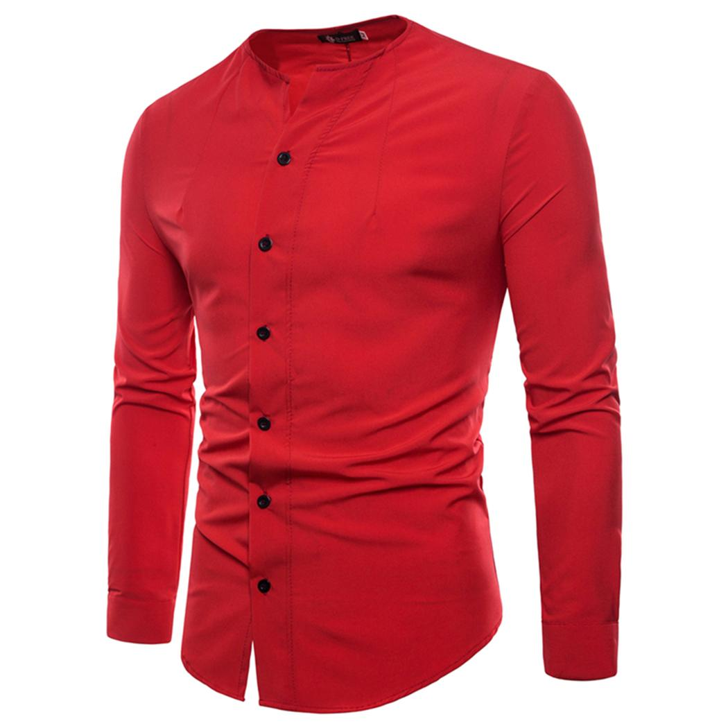 2019 Casual Shirts Men Long Sleeve Fashion Brand Mens Summer