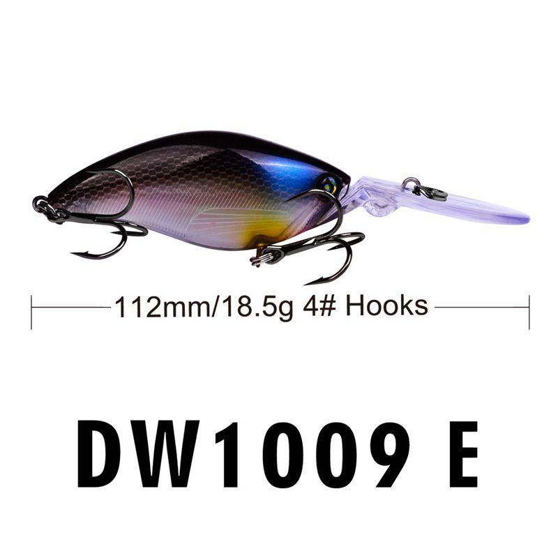 Minnow Laser Long Lip likelife fish lure 11.2cm 18.5g Freshwater Fishing BASS Crank bait 4# BKB Hooks CrankBaits