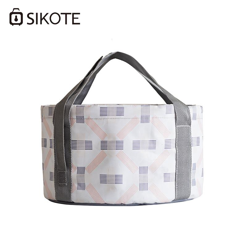 dbbddbde2e SIKOTE Bucket Travel Portable Foldable Bucket Convenience Unisex Water  Polyester Totes Shoulder Bags Laptop Bags For Women From Flaky