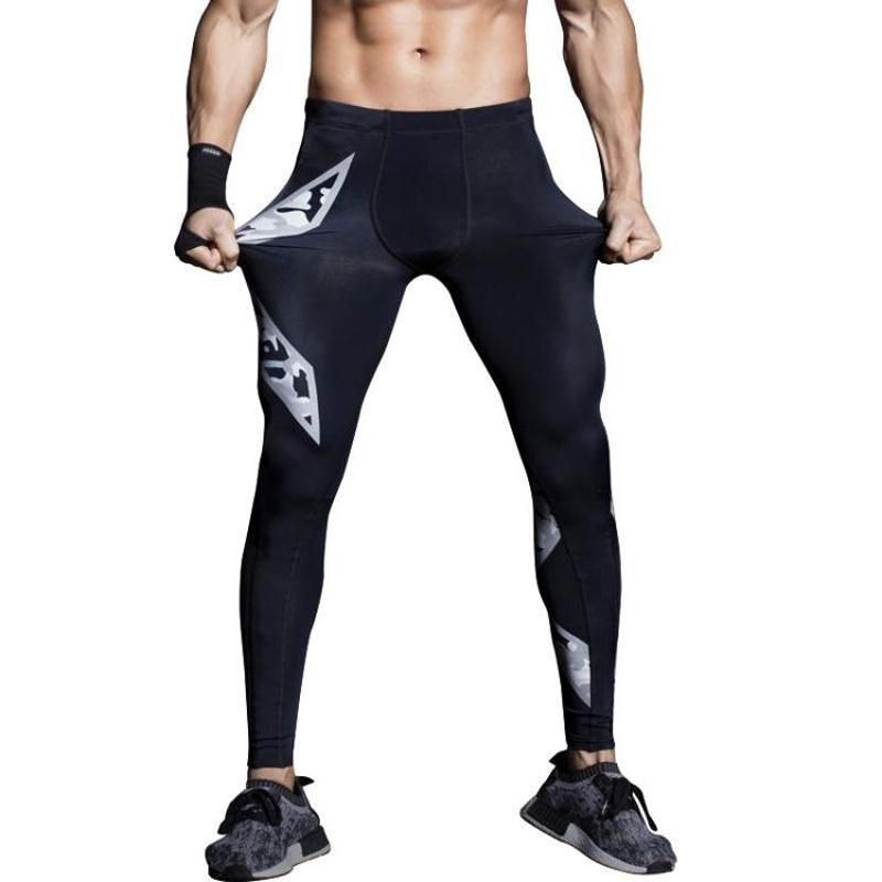 e6b2229f617f8 2019 Mens Gym Compression Pants 2017 New Crossfit Running Tights Men  Bodybuilding Sport Training Pants Trousers Camouflage Joggers From Peniss,  ...