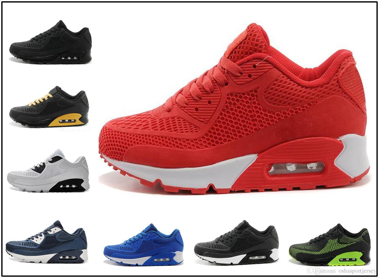 298b867fab0 Compre Nike Air Max Airmax 90 Kpu Nuevos Zapatos Casuales Cushion 90 KPU  Hombres Mujeres Zapatillas De Deporte De Alta Calidad Todos Los Zapatos  Deportivos ...