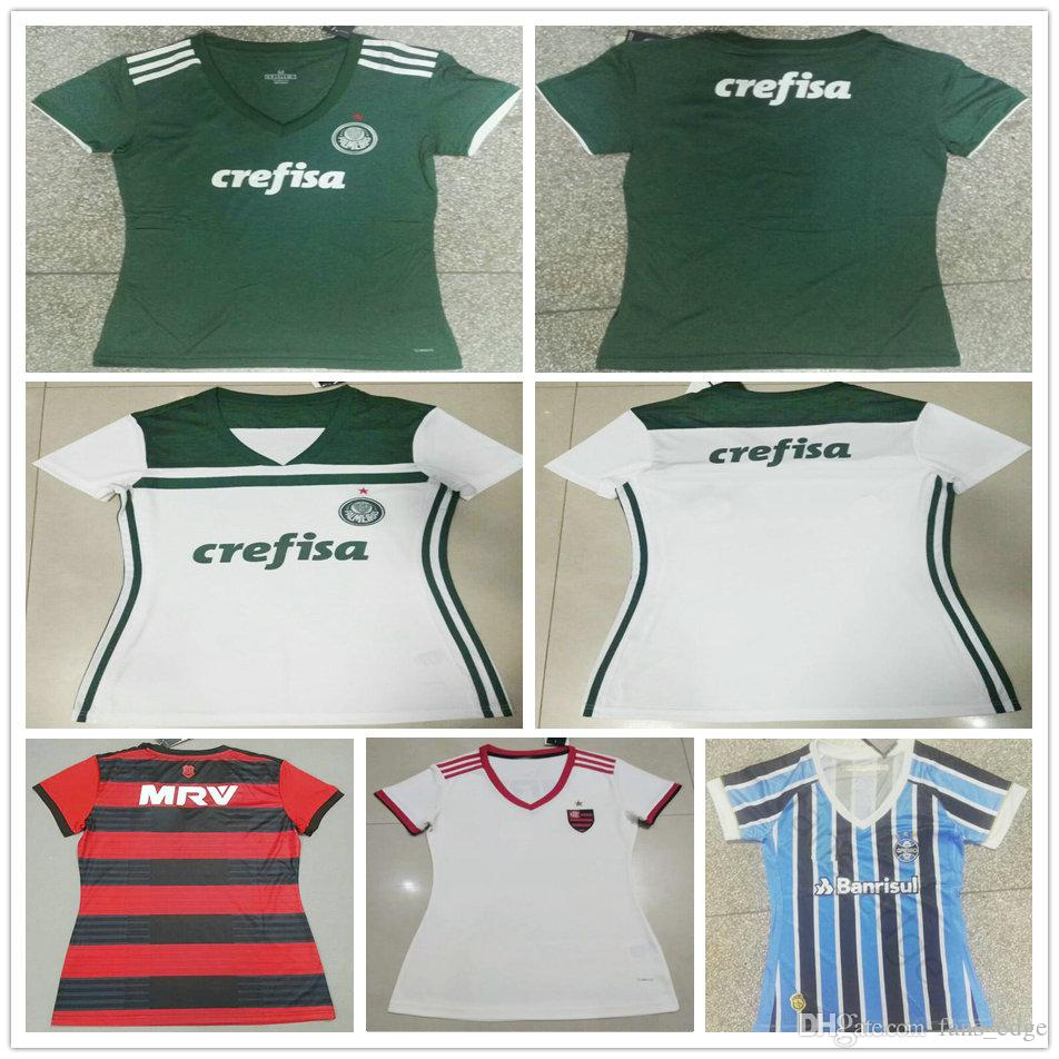 2019 Top Thai Quality 2018 2019 Woman Palmeiras Soccer Jersey Home Green  White 18 19 CR Flamengo Women Ladies Girls Red Customize Football Shirt  From ... 48cba4be0