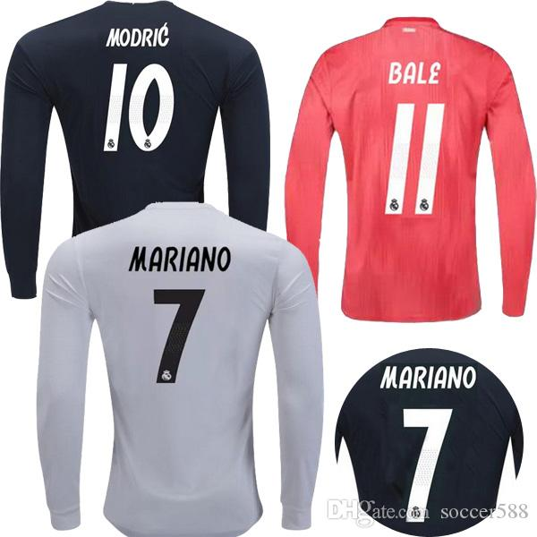 bcdd943bce2 2019 Long Sleeve 18 19 MARIANO Real Madrid Soccer Jersey ASENSIO BALE 3rd Football  Shirt 2019 VINICIUS JR RAMOS MODRIC Camiseta BENZEMA Maillot From ...