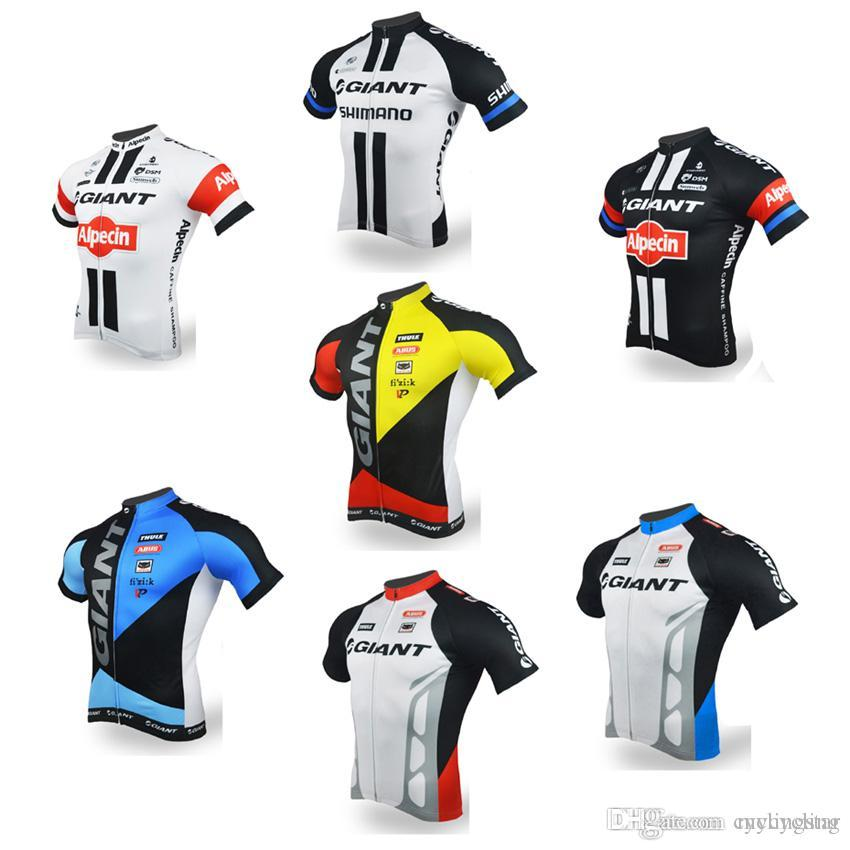 2018 New GIANT Men s Cycling Short Sleeve Jerseys Riding Bike Shirts Summer  Breathable Bicycle Wear Cycling Clothing Ropa Ciclismo E240 GIANT Cycling  ... ad3c7c816