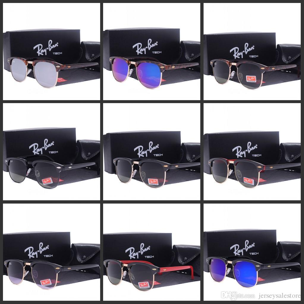 7707142d087a8 Hot Square RAYS Sunglasses Men Women BANS Half Frame Brand Designer  Inspired Hot Retro Classic Club Master Sun Glasses Shades Online with   18.95 Piece on ...