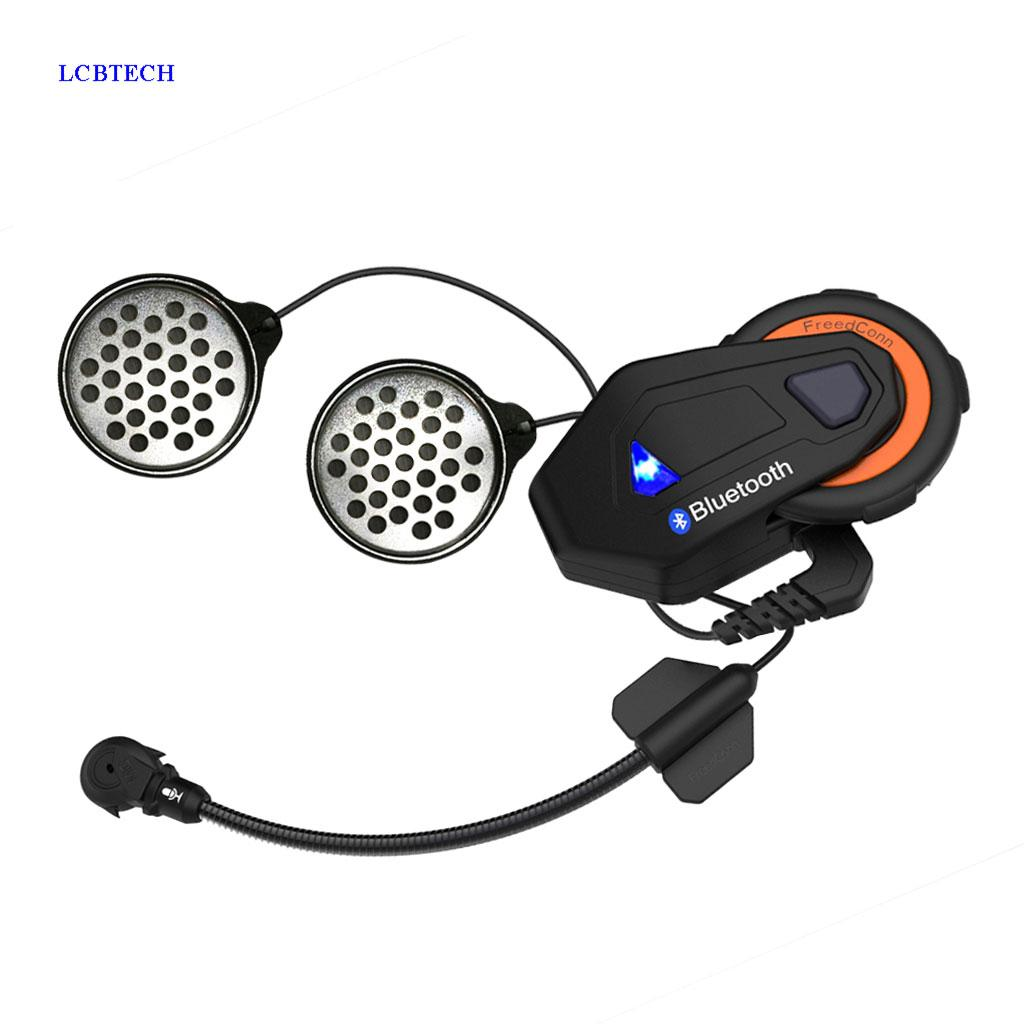 Freedconn T-max Bluetooth Walkie-talkie Motorcycle Helmet 1500M Remote  Talkback Distance for 6 Cheyou Group Chat Intercom FM