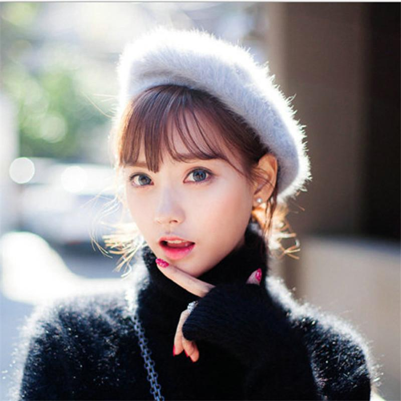 f134d071f30 2019 New Trendy Charm Solid Color Winter Warm Wool Women Beret French  Artist Beanie Hat Cap For Female Fashion Accessory Lady Gifts From Duoyun